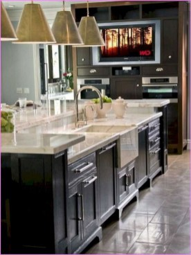 Kitchen Island Design Ideas With Marble Countertops 47