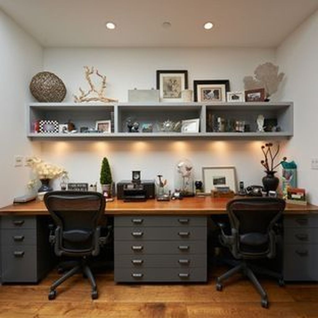 Modern Home Office Idea That Easily Implemented 34