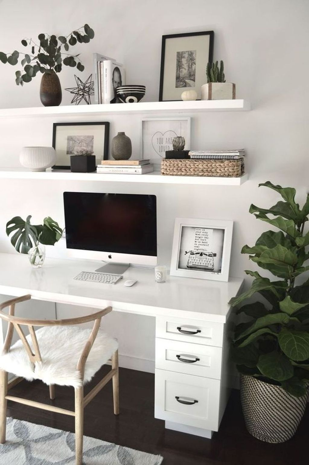 Modern Home Office Idea That Easily Implemented 45