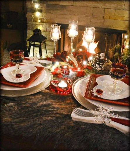 Romantic Valentines Day Dining Room Decor 50