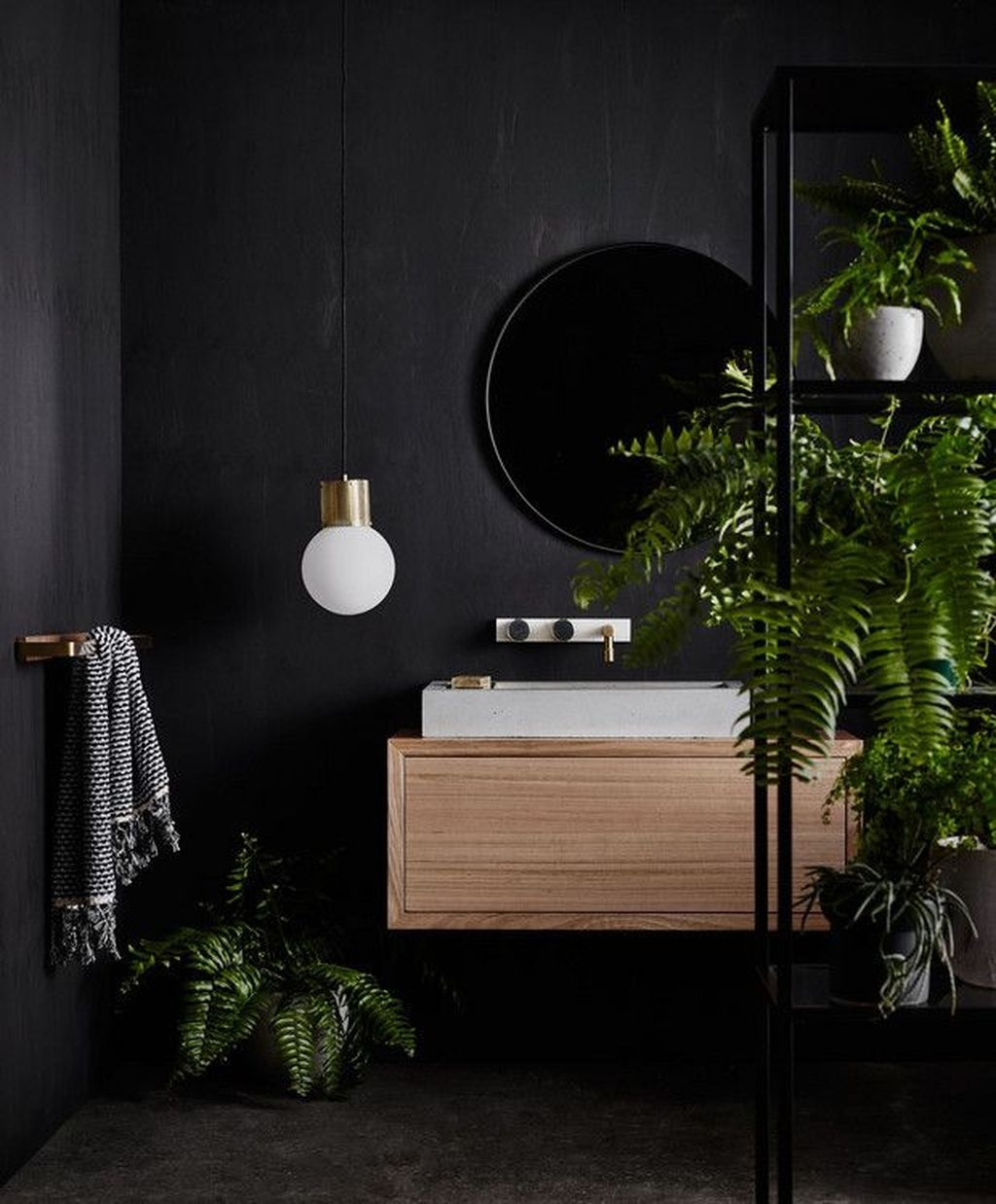 Stunning Modern Black Home Decor 40