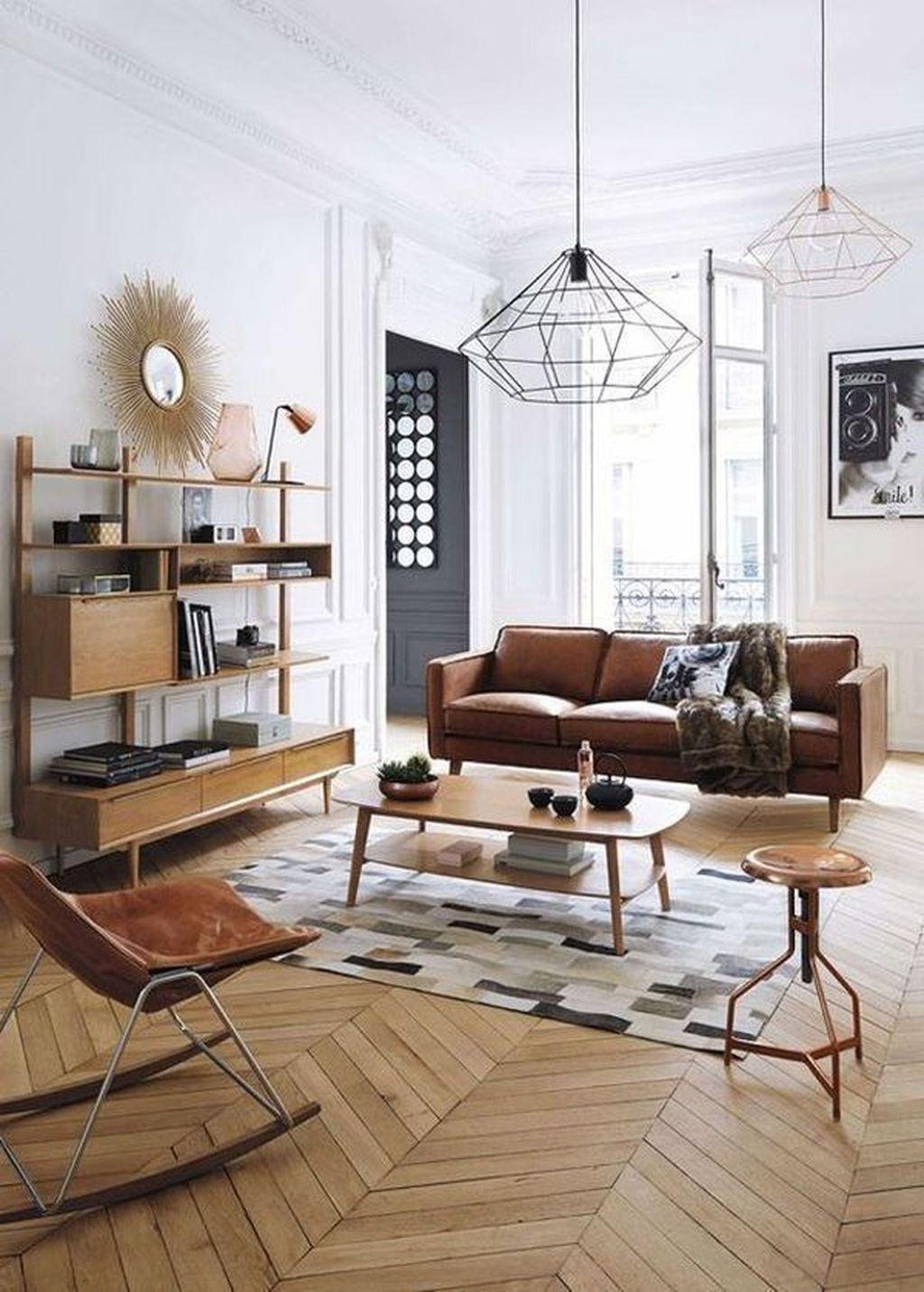 Stunning Modern Mid Century Living Room Design 48