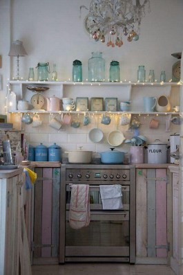 Upgrading Your Wall For Romantic Kitchen Decorations 43