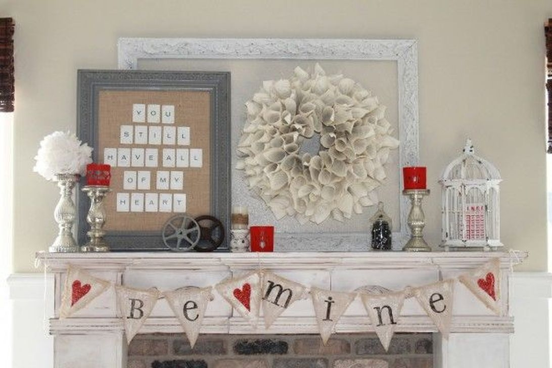 Valentines Day Home Decor With White Color Scheme 09
