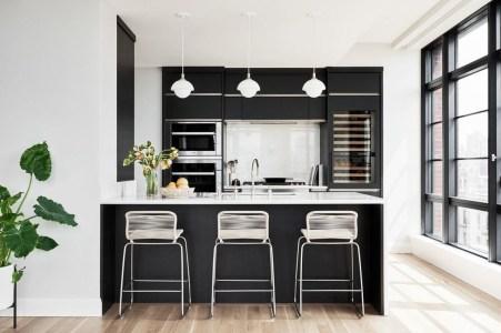 Black Kitchen Design Ideas With White Color Accent 01