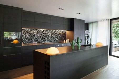 Black Kitchen Design Ideas With White Color Accent 02