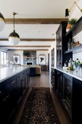 Black Kitchen Design Ideas With White Color Accent 18
