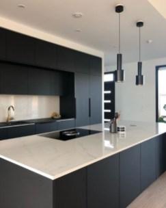 Black Kitchen Design Ideas With White Color Accent 24