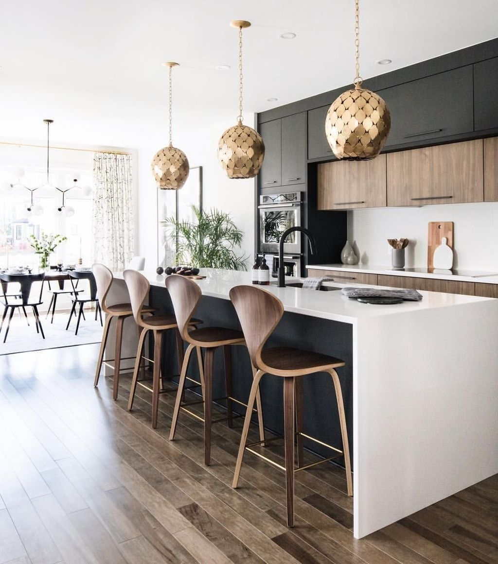 Black Kitchen Design Ideas With White Color Accent 38