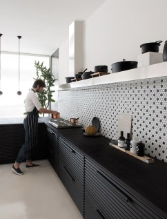 Black Kitchen Design Ideas With White Color Accent 39