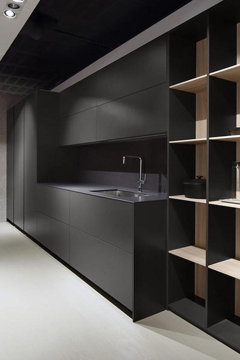 Black Kitchen Design Ideas With White Color Accent 44
