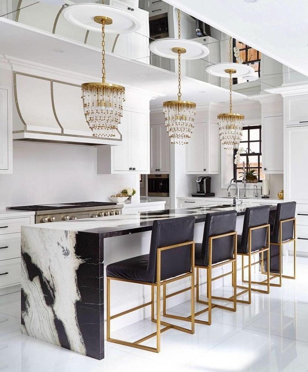 Black Kitchen Design Ideas With White Color Accent 47