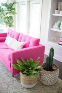 Lovely Pink Living Room Decor Ideas 05
