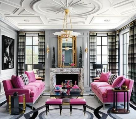 Lovely Pink Living Room Decor Ideas 28