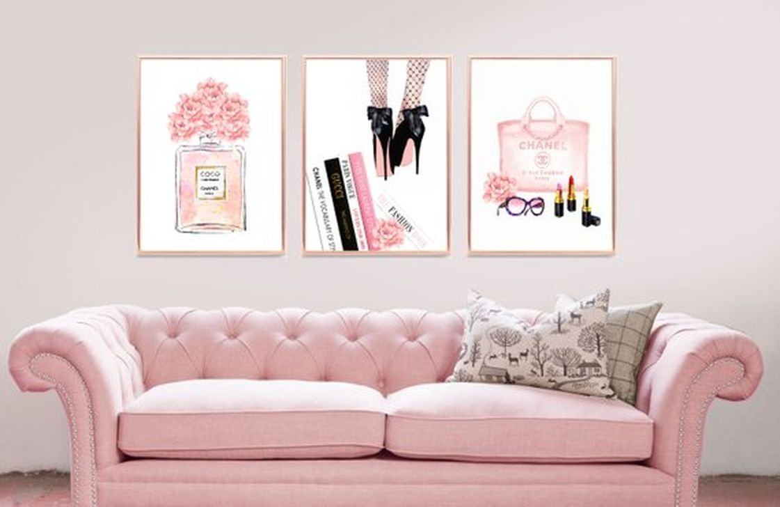Lovely Pink Living Room Decor Ideas 33