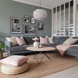Lovely Pink Living Room Decor Ideas 36