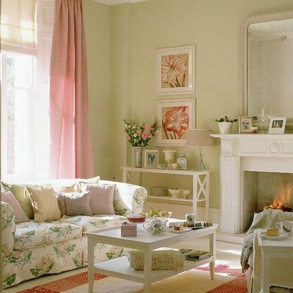 Lovely Pink Living Room Decor Ideas 37