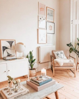 Lovely Pink Living Room Decor Ideas 50