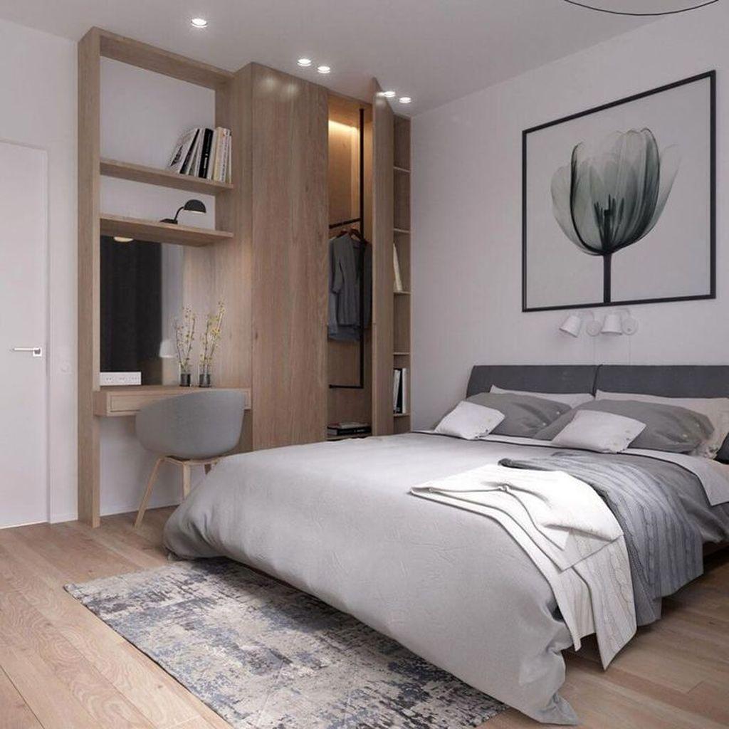 Minimalist Scandinavian Bedroom Decor Ideas 41 - SWEETYHOMEE