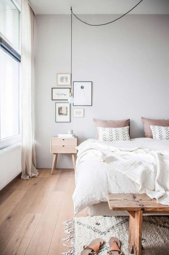 Minimalist Scandinavian Bedroom Decor Ideas 47