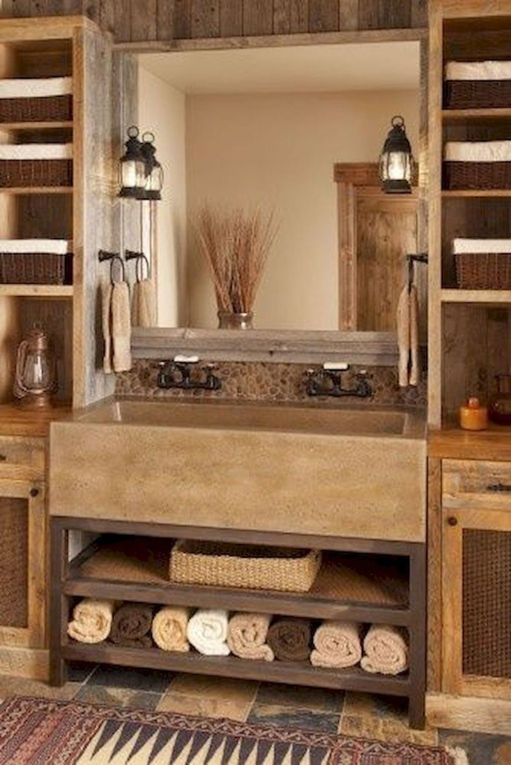 Perfect Rustic Farmhouse Bathroom Design Ideas 06