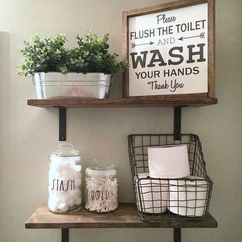 Perfect Rustic Farmhouse Bathroom Design Ideas 37