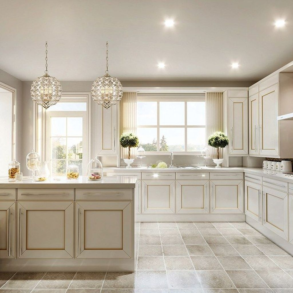 The Best Lighting In Neutral Kitchen Design Ideas 35