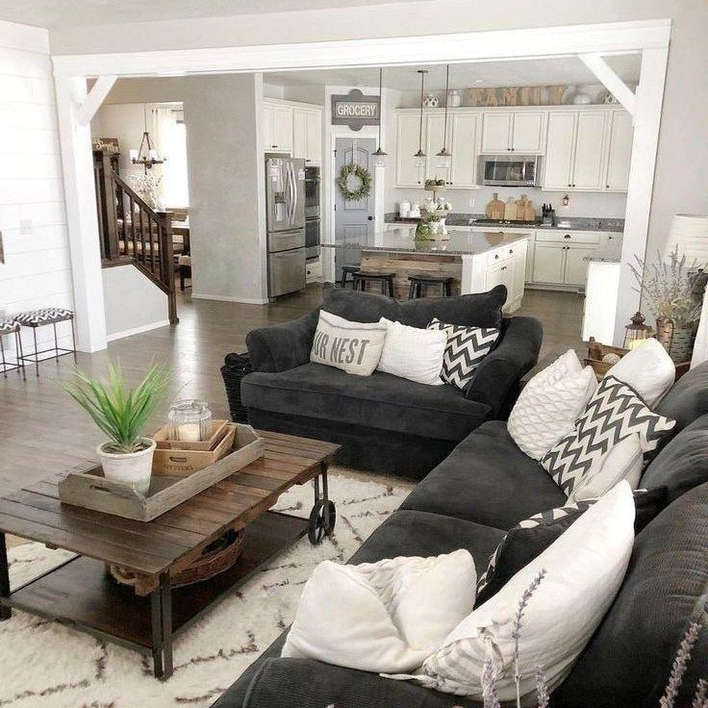 Admirable Farmhouse Living Room Decor Ideas 30