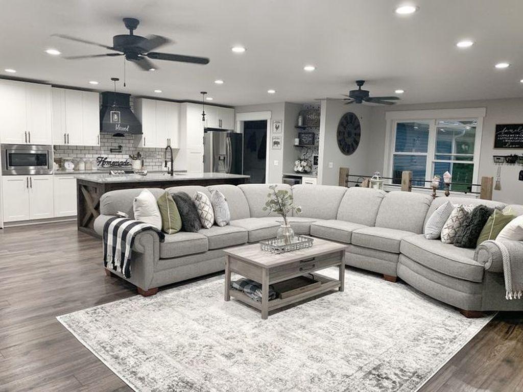 Admirable Farmhouse Living Room Decor Ideas 36