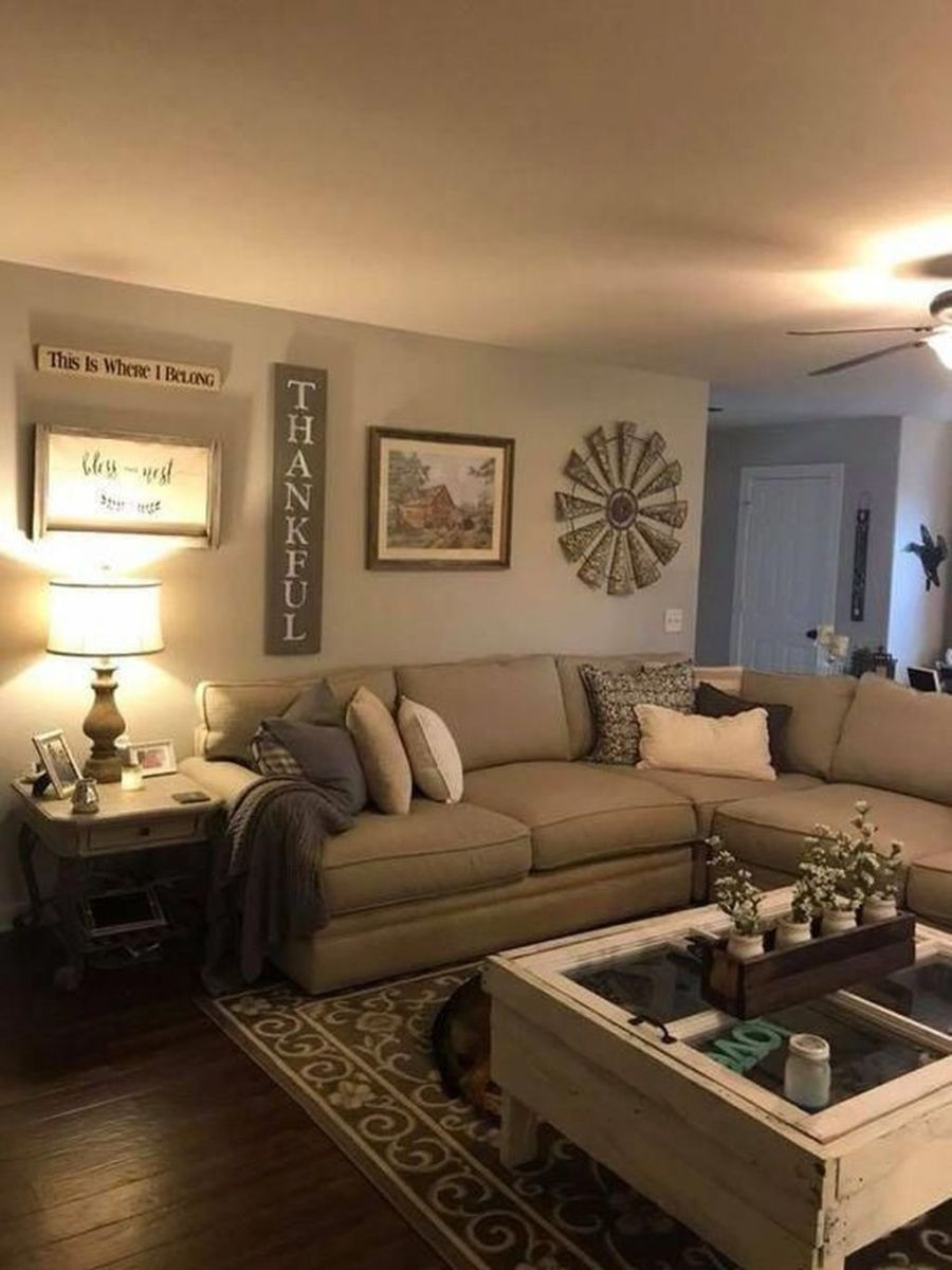 Admirable Farmhouse Living Room Decor Ideas 37