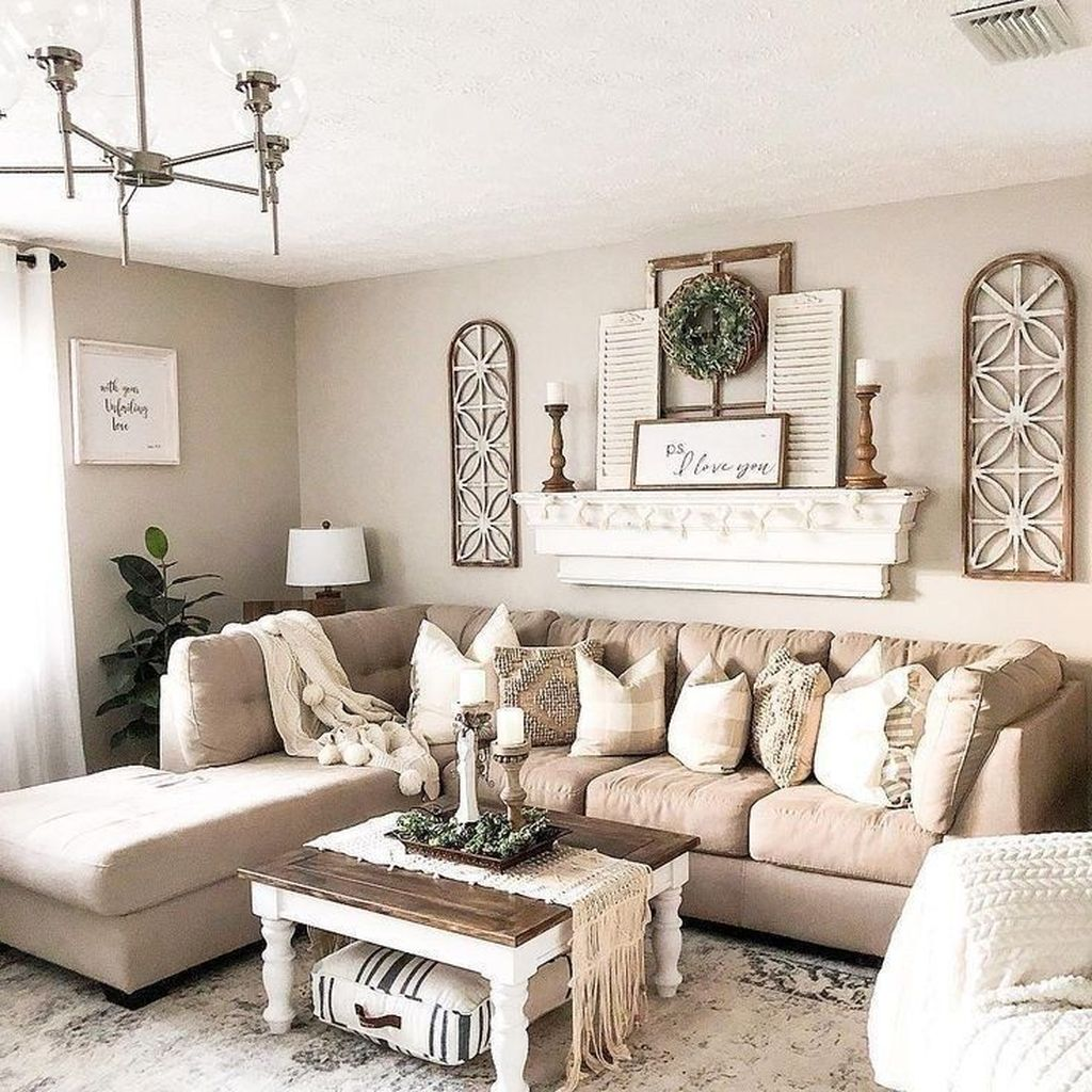 Admirable Farmhouse Living Room Decor Ideas 39