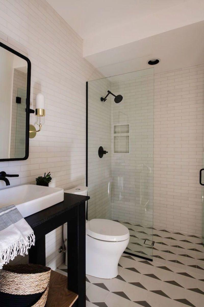 Amazing White Tile Bathroom Design Ideas Looks Elegant 01
