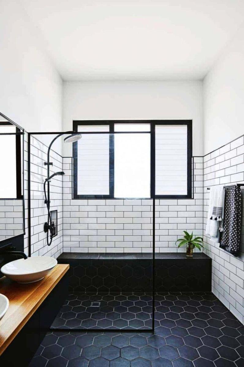 Amazing White Tile Bathroom Design Ideas Looks Elegant 04
