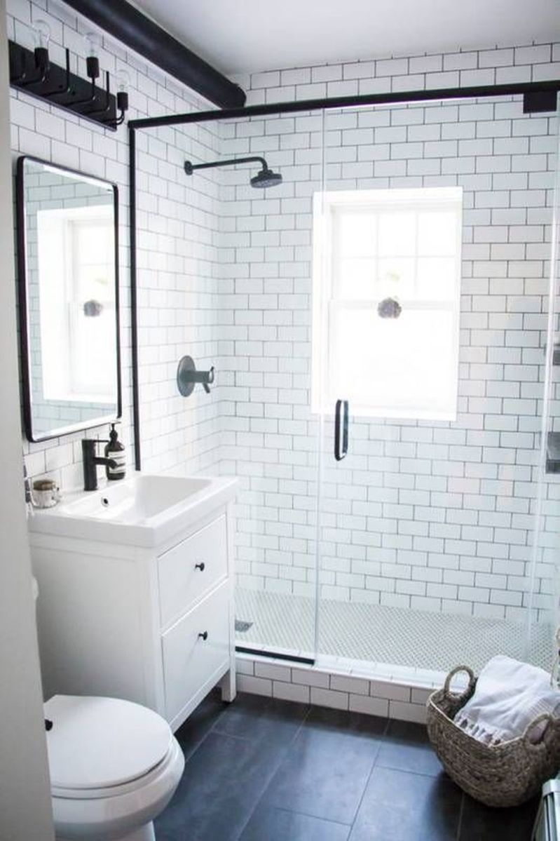 Amazing White Tile Bathroom Design Ideas Looks Elegant 06