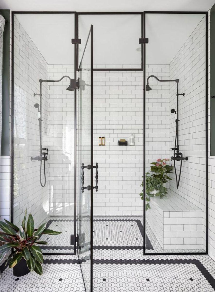 Amazing White Tile Bathroom Design Ideas Looks Elegant 07