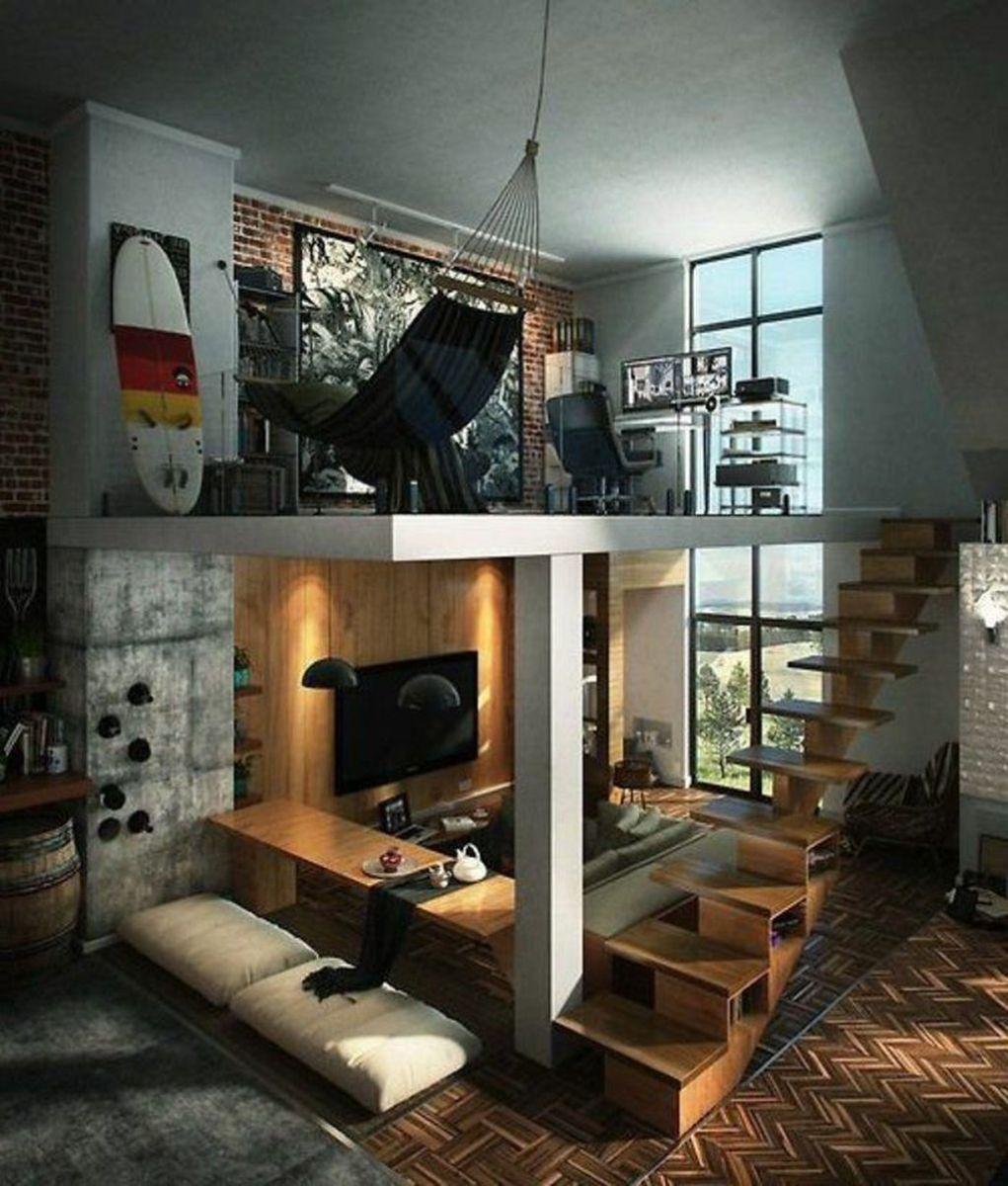 Awesome Loft Apartment Decorating Ideas 31