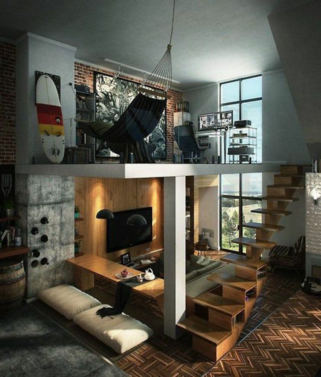 Awesome Loft Apartment Decorating Ideas 31