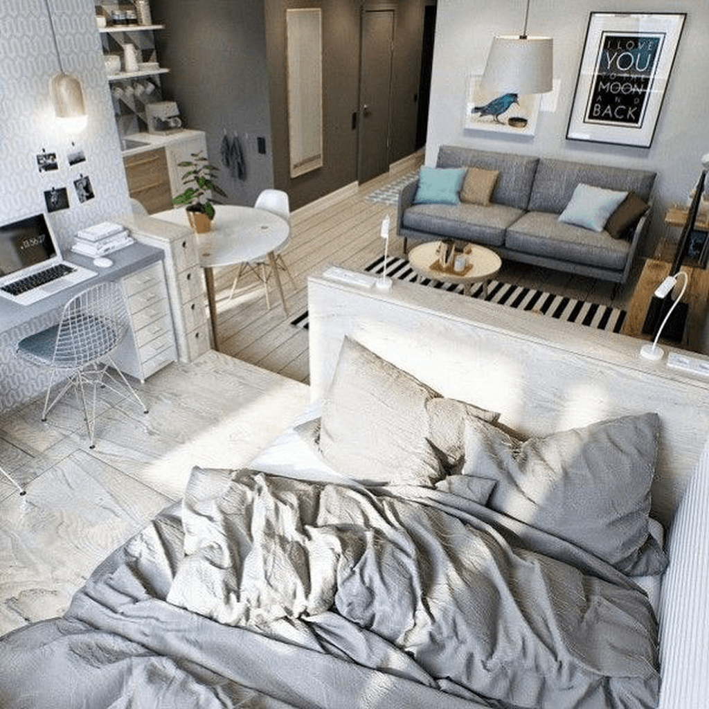 Cool Studio Apartment Ideas You Never Seen Before 22