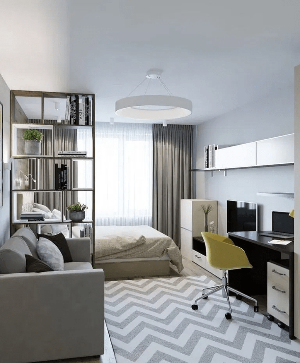 Cool Studio Apartment Ideas You Never Seen Before 24