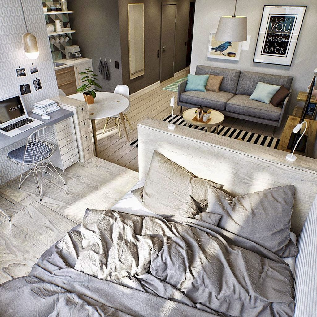 Cool Studio Apartment Ideas You Never Seen Before 37