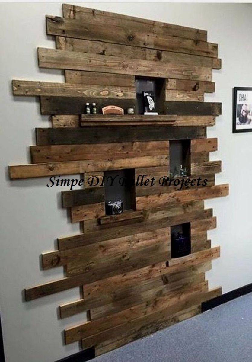Fabulous Pallet Wall Decor Ideas To Beautify Your Interior 07