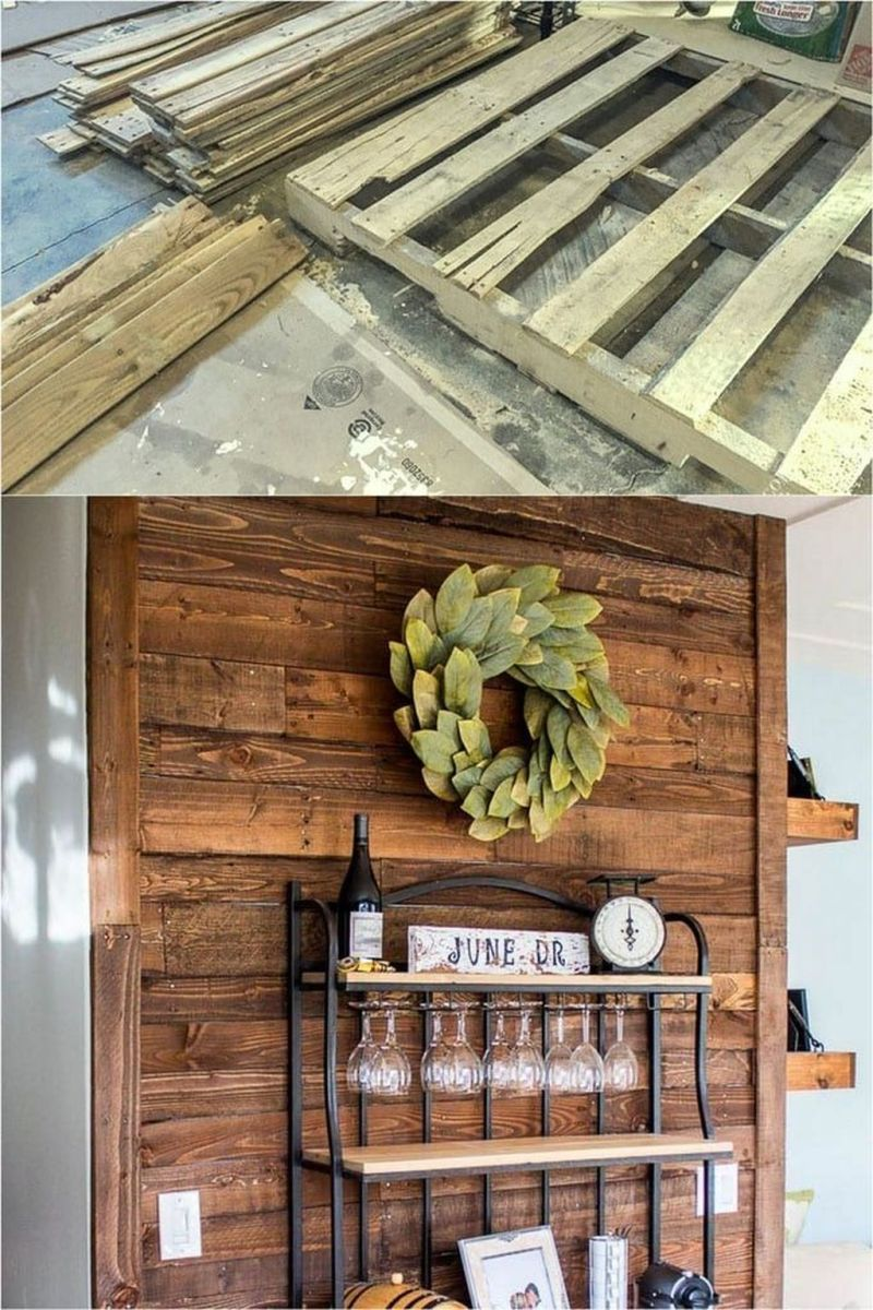 Fabulous Pallet Wall Decor Ideas To Beautify Your Interior 12