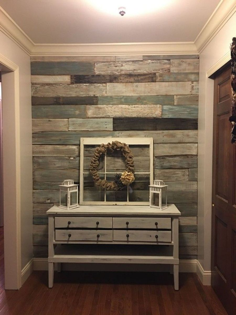 Fabulous Pallet Wall Decor Ideas To Beautify Your Interior 17