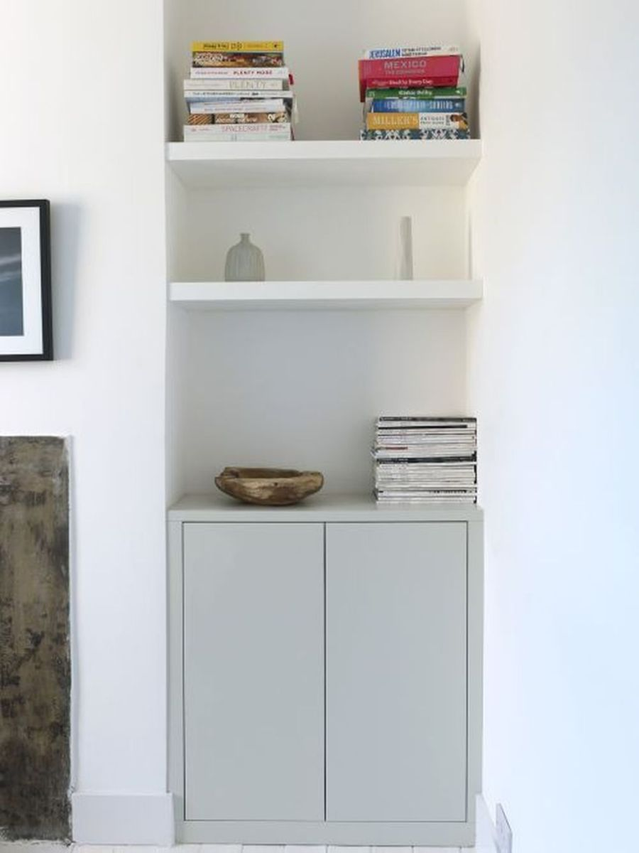Fascinating Small Living Room Cabinet Design Ideas 20