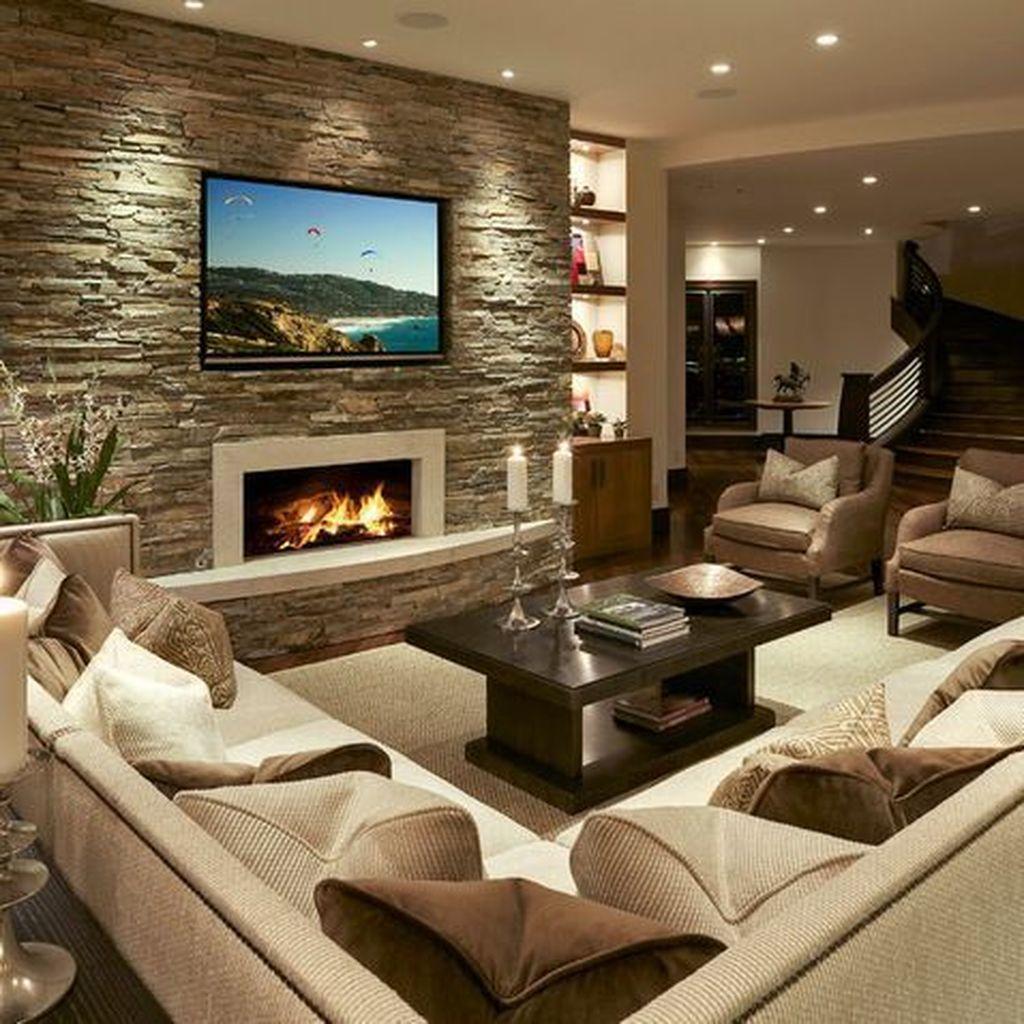 Gorgeous Basement Living Room Ideas You Definitely Like 14