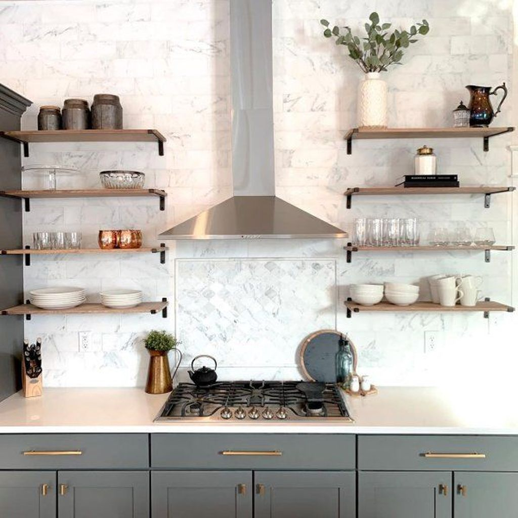 Gorgeous Kitchen Shelves Ideas You Must Have 01