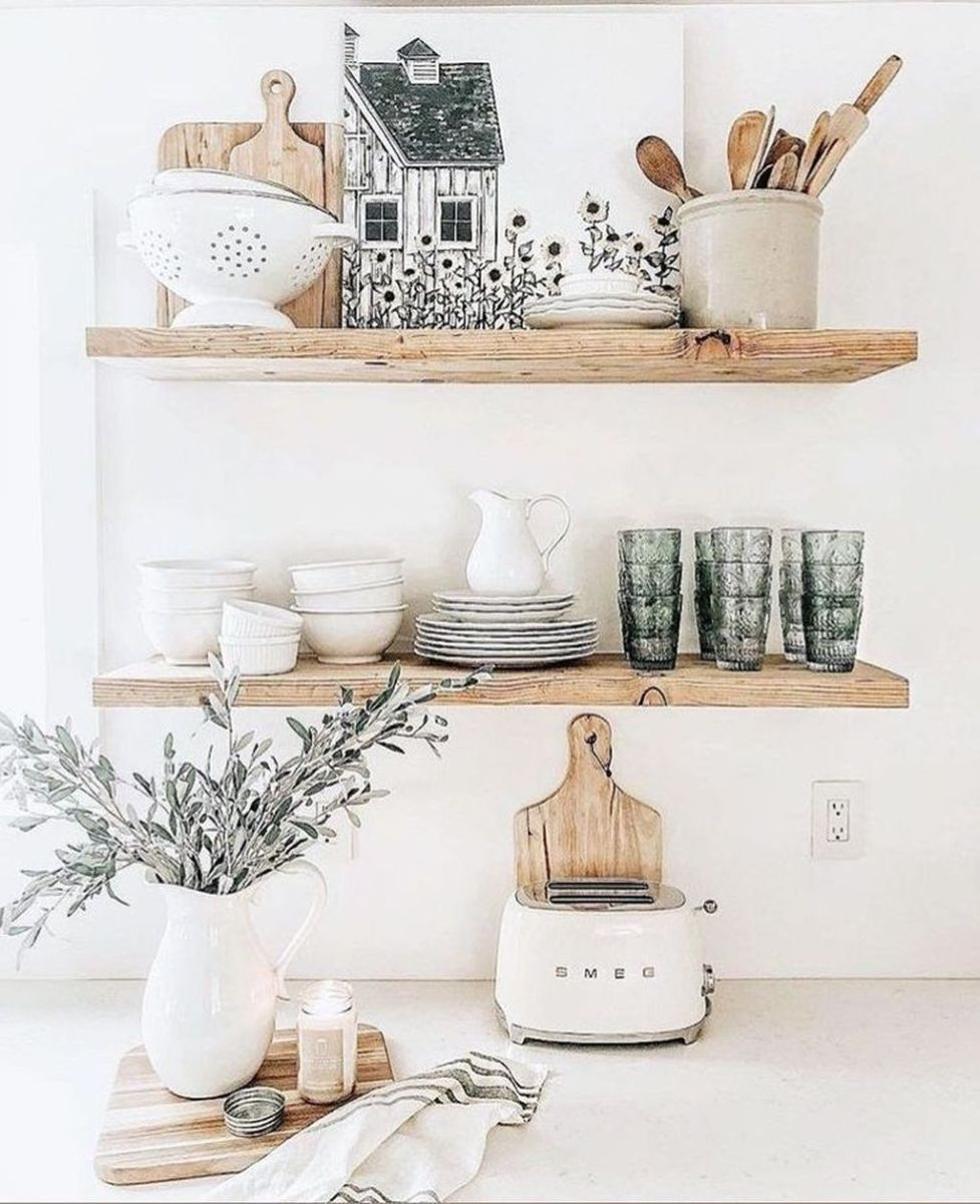 Gorgeous Kitchen Shelves Ideas You Must Have 14