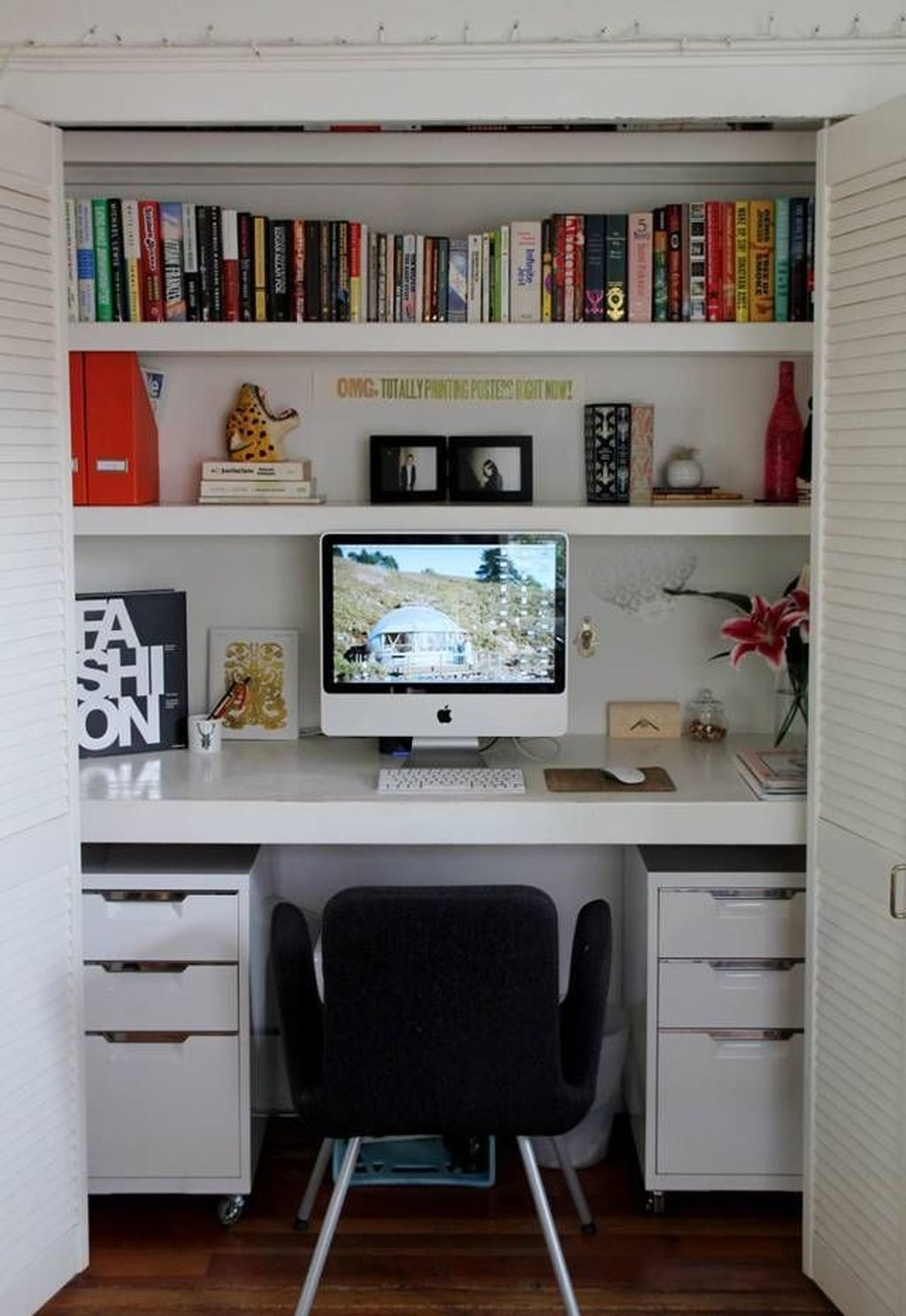 Inspiring Small Office Ideas For Small Space 05