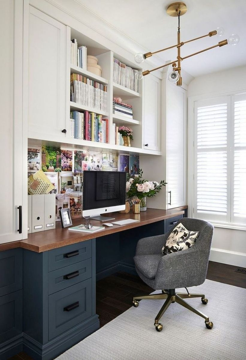 Inspiring Small Office Ideas For Small Space 08