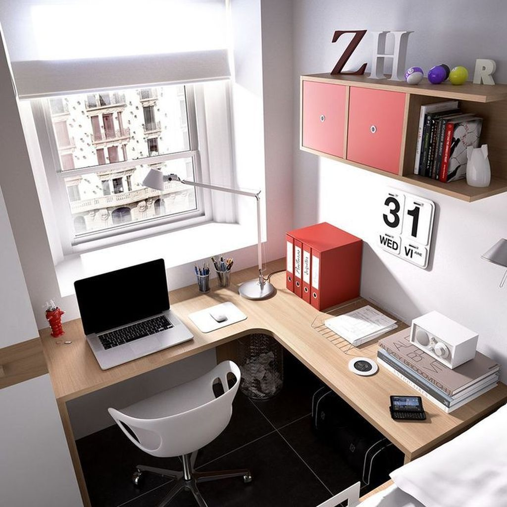 Inspiring Small Office Ideas For Small Space 18
